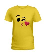 Halloween Emoji Kiss Shirt Ladies T-Shirt thumbnail