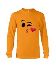 Halloween Emoji Kiss Shirt Long Sleeve Tee thumbnail