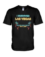 I SURVIVED LAS VEGAS T-SHIRT V-Neck T-Shirt thumbnail