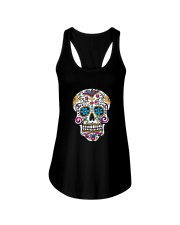 Day of the Dead Sugar Skull T-Shirt Ladies Flowy Tank thumbnail