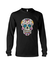 Day of the Dead Sugar Skull T-Shirt Long Sleeve Tee thumbnail