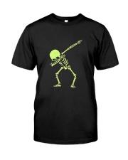 Dabbing Skeleton Halloween  Dab Hip Hop T-Shirt Classic T-Shirt front
