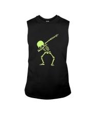 Dabbing Skeleton Halloween  Dab Hip Hop T-Shirt Sleeveless Tee thumbnail