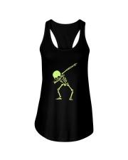 Dabbing Skeleton Halloween  Dab Hip Hop T-Shirt Ladies Flowy Tank thumbnail