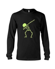 Dabbing Skeleton Halloween  Dab Hip Hop T-Shirt Long Sleeve Tee thumbnail
