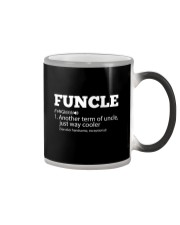 Mens Funny Uncle - Funcle Cooler Term T- shirt Color Changing Mug tile