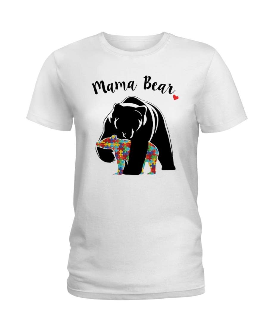 Funny Mama Bear T-Shirt Ladies T-Shirt