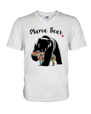 Funny Mama Bear T-Shirt V-Neck T-Shirt tile