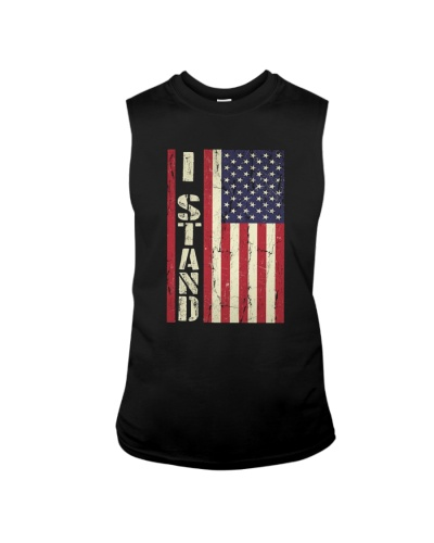 I Stand For The National Anthem Veteran T-shirt