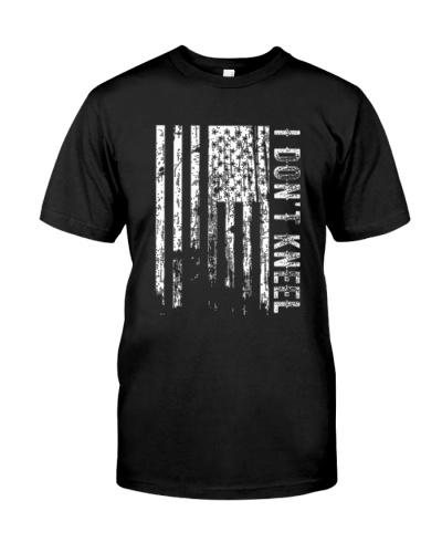 I Don't Kneel Veteran T-shirt