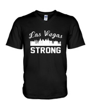 Las Vegas Strong Support Pray For T-Shirt V-Neck T-Shirt thumbnail