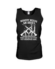 Nobody Needs An AR15 Gun Tee Shirt Unisex Tank thumbnail