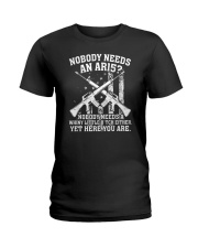 Nobody Needs An AR15 Gun Tee Shirt Ladies T-Shirt front