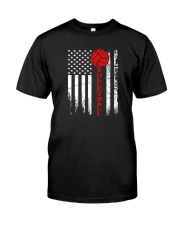 Volleyball American Flag T Shirt Classic T-Shirt tile