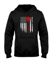 Volleyball American Flag T Shirt Hooded Sweatshirt thumbnail
