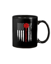 Volleyball American Flag T Shirt Mug thumbnail