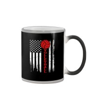 Volleyball American Flag T Shirt Color Changing Mug thumbnail