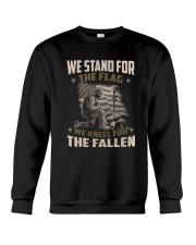WE STAND FOR THE FLAG - VETERANS US T-SHIRT Crewneck Sweatshirt thumbnail