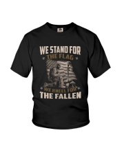 WE STAND FOR THE FLAG - VETERANS US T-SHIRT Youth T-Shirt thumbnail