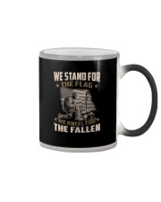 WE STAND FOR THE FLAG - VETERANS US T-SHIRT Color Changing Mug thumbnail