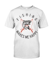 Fishing Makes Me Happy Vintage Style  Premium Fit Mens Tee thumbnail