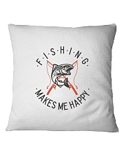 Fishing Makes Me Happy Vintage Style  Square Pillowcase front