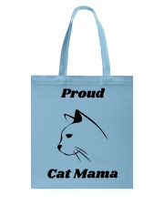 Proud Cat Mama Tote Bag front
