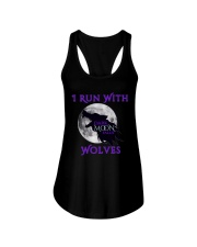 Dark Moon Falls 'I Run with Wolves' Flowy Tank Ladies Flowy Tank front