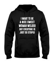 NICE SWEET WOMAN WELDER Hooded Sweatshirt thumbnail