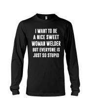 NICE SWEET WOMAN WELDER Long Sleeve Tee thumbnail