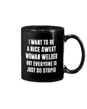 NICE SWEET WOMAN WELDER Mug front