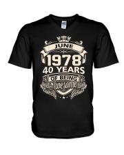HAPPY BIRTHDAY JUNE 1978 V-Neck T-Shirt thumbnail