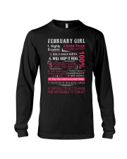 FEBRUARY GIRL Long Sleeve Tee thumbnail