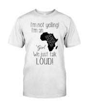 AFRICAN AMERICAN GIRL NOT YELLING Classic T-Shirt front