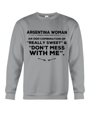 DON'T MESS WITH ARGENTINA WOMEN   Crewneck Sweatshirt thumbnail