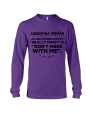 DON'T MESS WITH ARGENTINA WOMEN   Long Sleeve Tee thumbnail