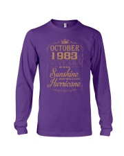 OCTOBER 1983 OF BEING SUNSHINE AND HURRICANE Long Sleeve Tee thumbnail