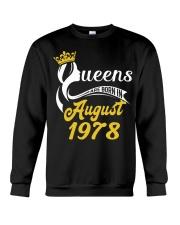 QUEENS ARE BORN IN AUGUST 1978 Crewneck Sweatshirt thumbnail