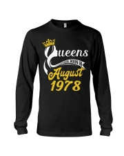 QUEENS ARE BORN IN AUGUST 1978 Long Sleeve Tee thumbnail
