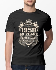Happy Birthayday March 1958 Classic T-Shirt lifestyle-mens-crewneck-front-13