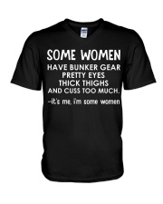 FIREFIGHTERS HAVE PRETTY EYES V-Neck T-Shirt thumbnail
