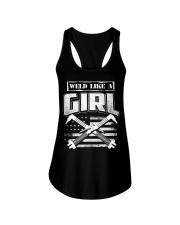 WELD LIKE A GIRL Ladies Flowy Tank thumbnail