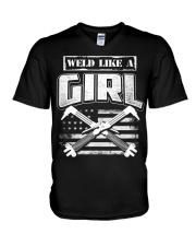 WELD LIKE A GIRL V-Neck T-Shirt thumbnail