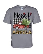 BLESSED ABUELA V-Neck T-Shirt thumbnail