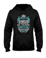 Birthday Gift December 1959 Hooded Sweatshirt thumbnail