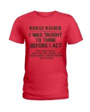 AM A LOVING WELDER Ladies T-Shirt thumbnail