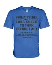 AM A LOVING WELDER V-Neck T-Shirt thumbnail