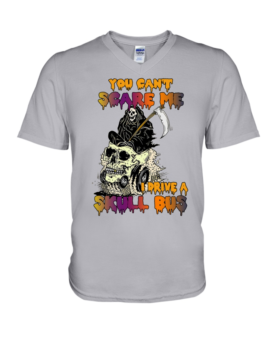 SKULL BUS V-Neck T-Shirt