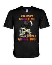 SKULL BUS V-Neck T-Shirt tile
