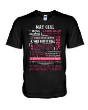 MAY GIRL V-Neck T-Shirt thumbnail